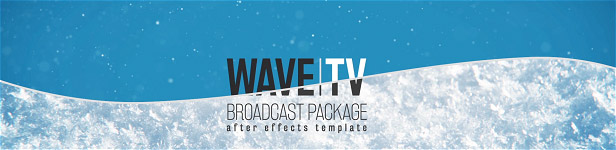 Wave Broadcast Package After Effects Templates