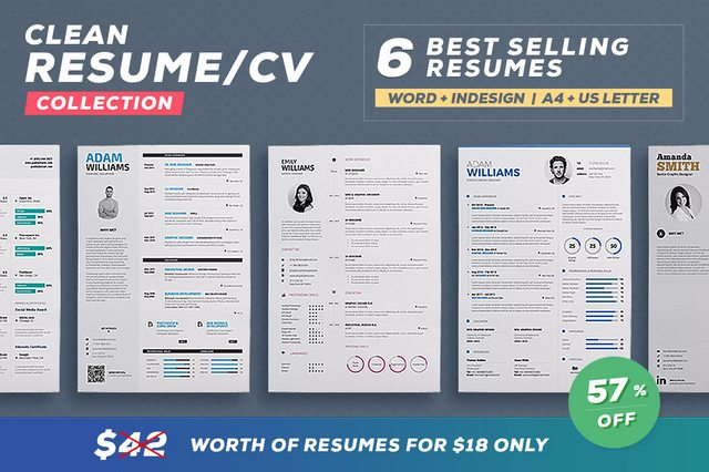 Resume / Cv Template - Word And Indesign - 6