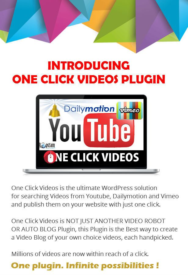One Click Videos Plugin