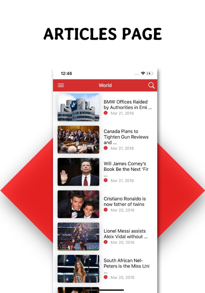 Full functional news app with admin panel Firebase Firestore & Ionic Framework - 6