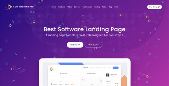 Soft Themez - Gatsby React Software Landing Page + Blogs With Netlify CMS - Corporate Site Templates