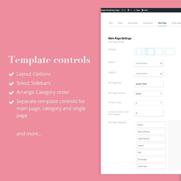 helpie - template control