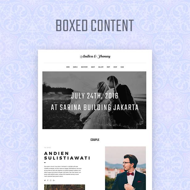 Kabheen - Modern Wedding WordPress Theme - 2