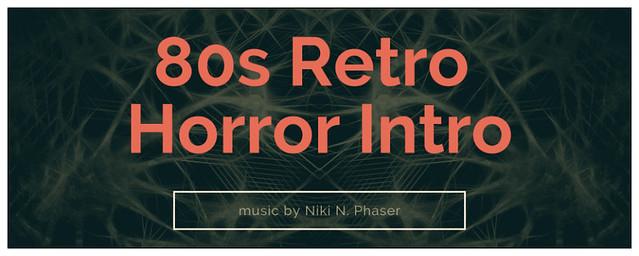 80s Retro Horror Intro Logo