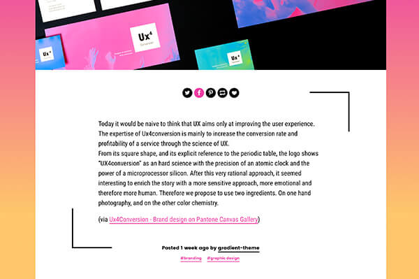 Gradient Tumblr Theme By Themelantic Themeforest