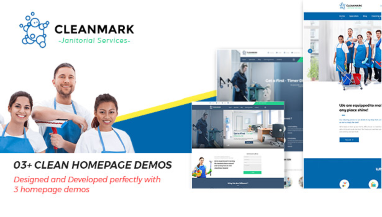 Cleanmark - Best Cleaning Service, Cleaning Company, Cleaning Business WordPress Theme
