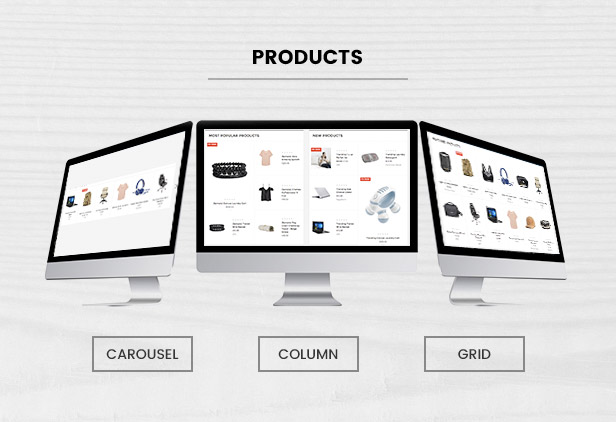 New Featured Bestselling Products supports List, Grid, Carousel
