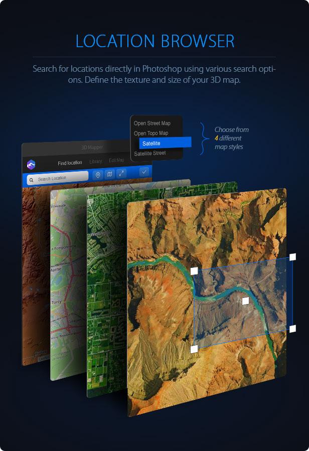 3D Map Generator - 3D Mapper - Photoshop Plug-in - 2
