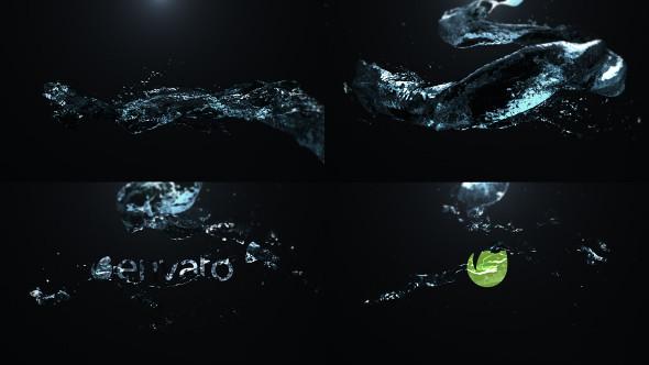 Water Drop Splash Logo - 57
