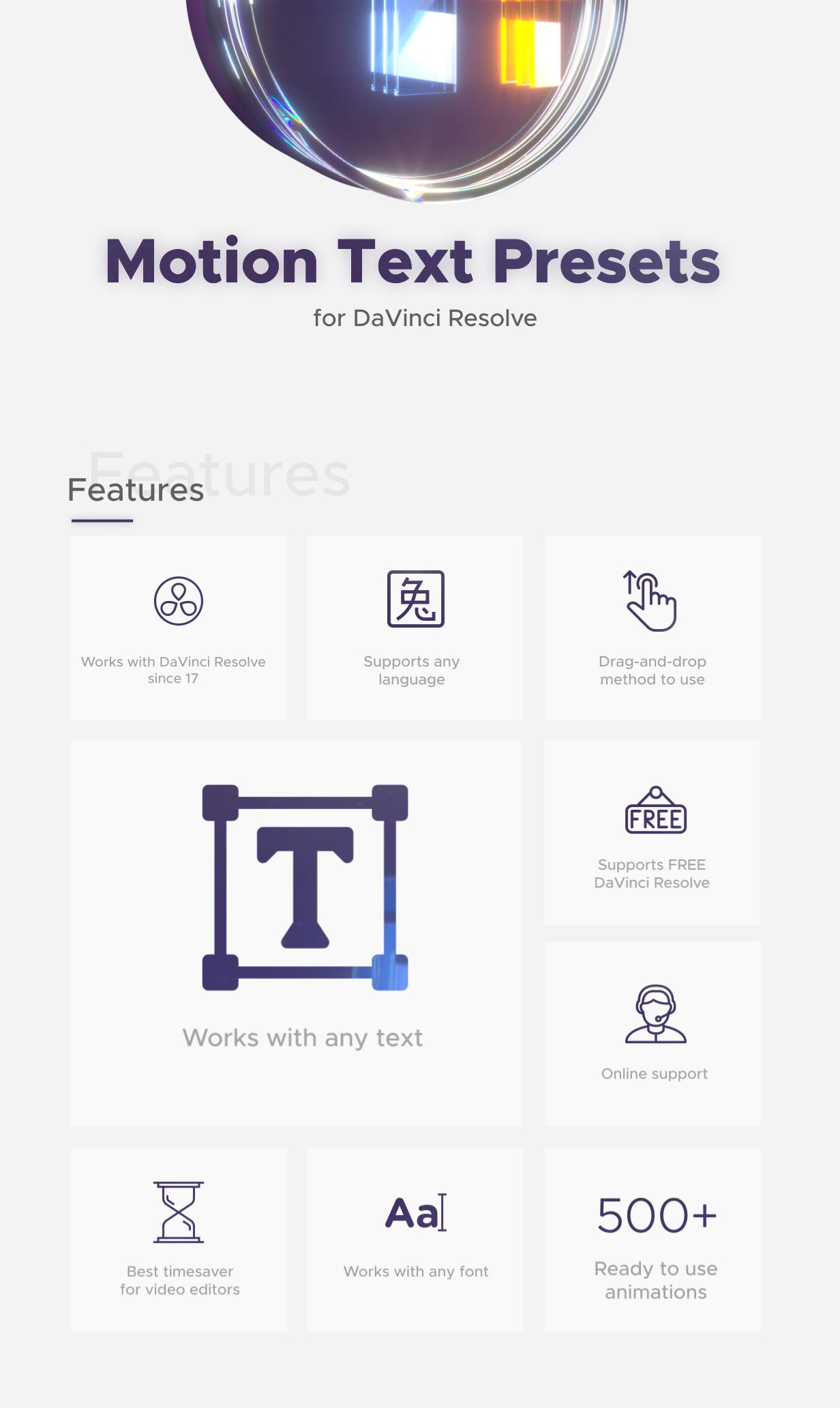Text Presets for DaVinci Resolve - 3