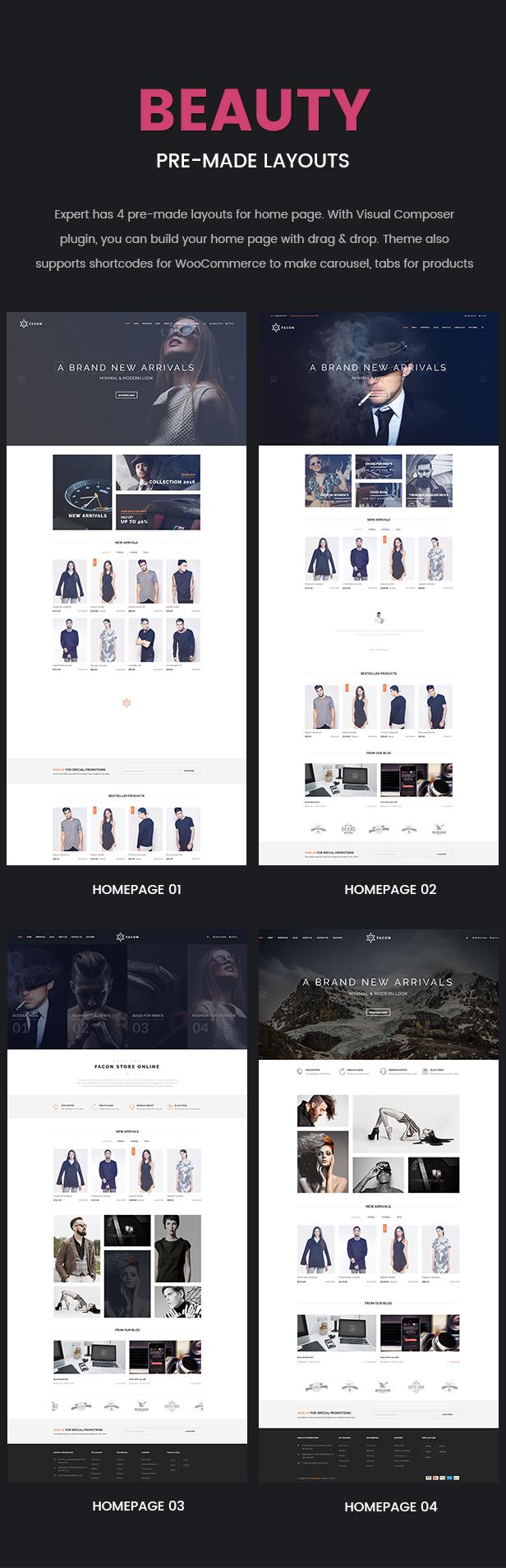 Facon - Fashion Responsive WordPress Theme 20