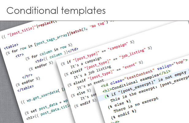 Conditional templates