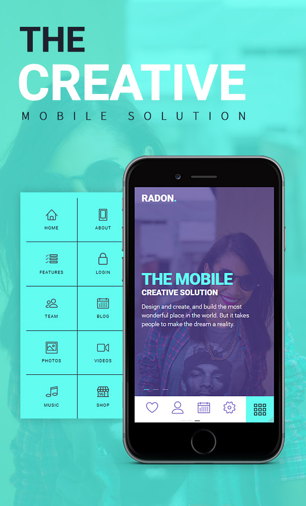 RADON HTML Mobile Template by sindevo | ThemeForest on cheapest home designs, michigan home designs, modular home designs, gulf coast home designs, manufactured home designs, city home designs, motor home designs, humble home designs, multi home designs, 2 story designs, manufactured house designs, cottage designs, vertical home designs, motor club designs, eastern shore home designs, temporary home designs, bing home designs, country home designs, 4-plex home designs, richmond home designs,
