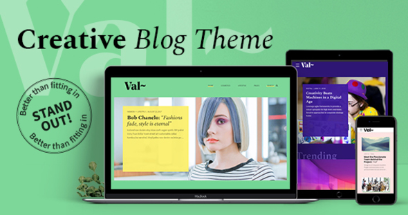 Val – Blog WordPress Theme