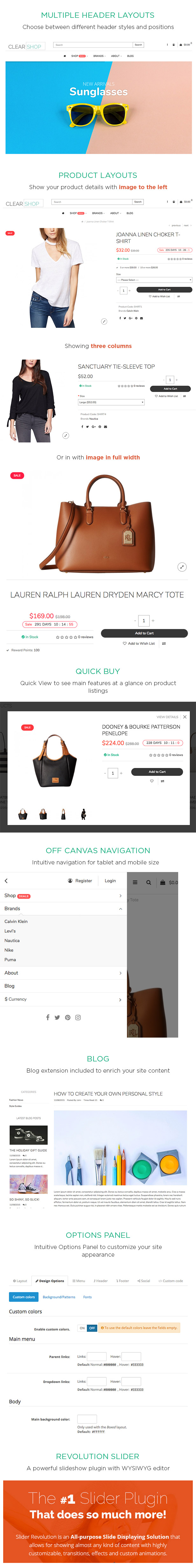 Clearshop - Responsive OpenCart theme - 1