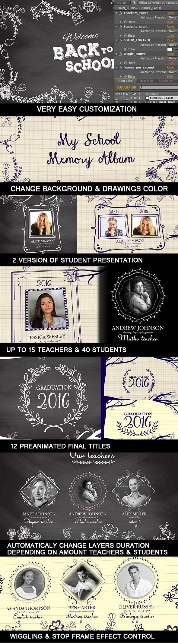 My School Memory Album & School Board Graduation Show