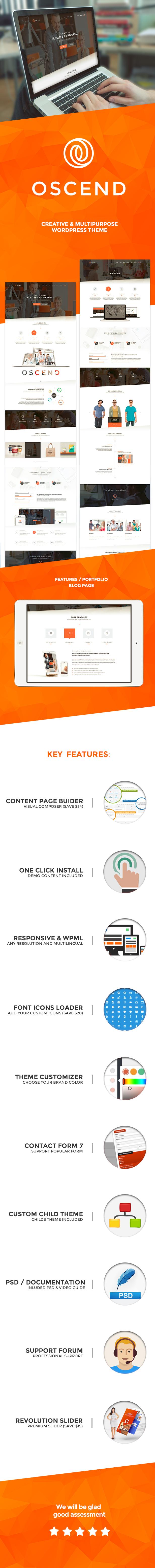 Oscend pluse - WordPress  Theme - 1