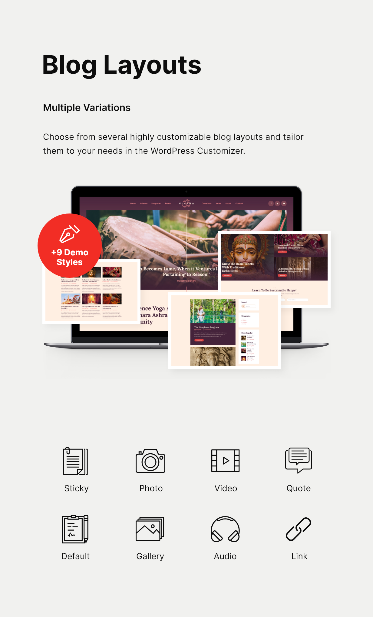 Vihara | Ashram Buddhist Temple WordPress Theme - 5