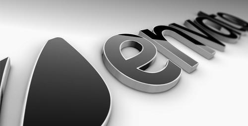 Black Classic 3D Logo - 3