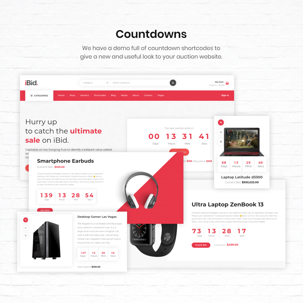 iBid - Multi Vendor Auctions WooCommerce Theme - 30