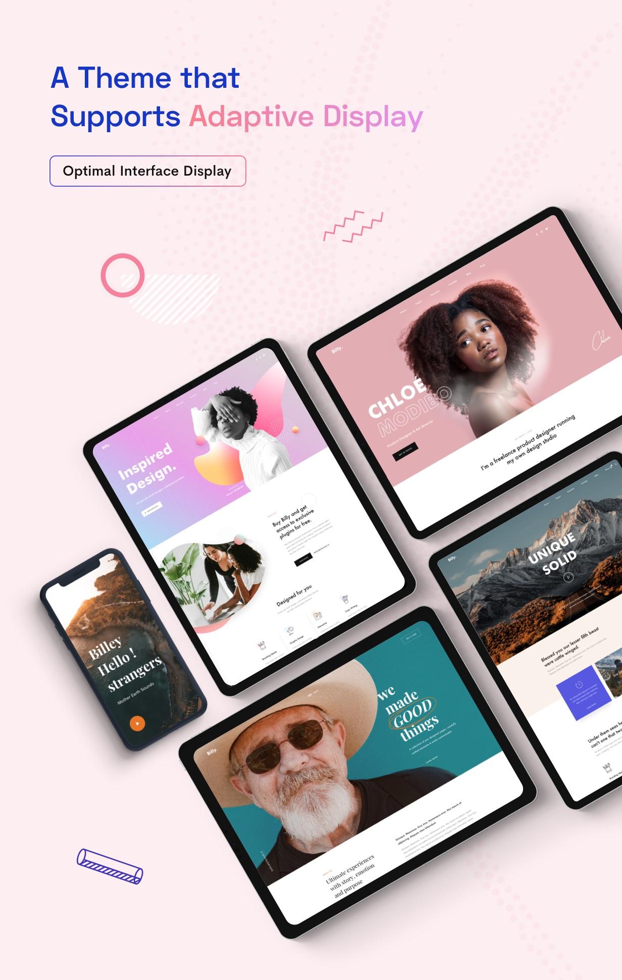Billey - Creative Portfolio & Agency WordPress Theme - 8
