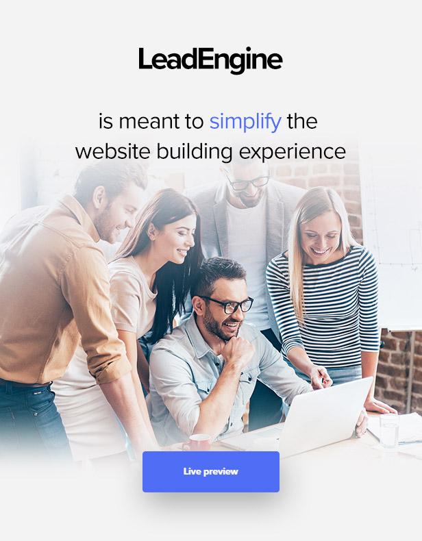"LeadEngine v2.6-""页面构建器""为空的多功能主题插图6"