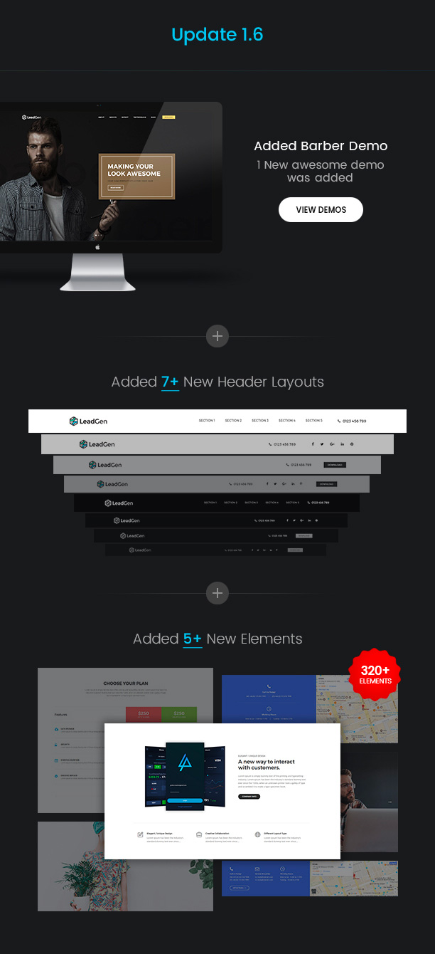 LeadGen - Multipurpose Marketing Landing Page Pack with Page Builder - 4