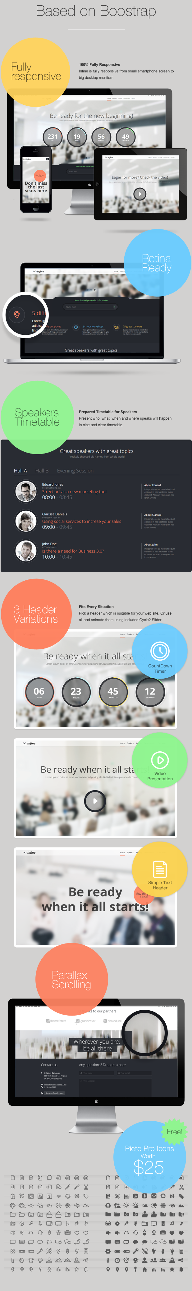 Infine - OnePage Conference & Event WP Theme - 2
