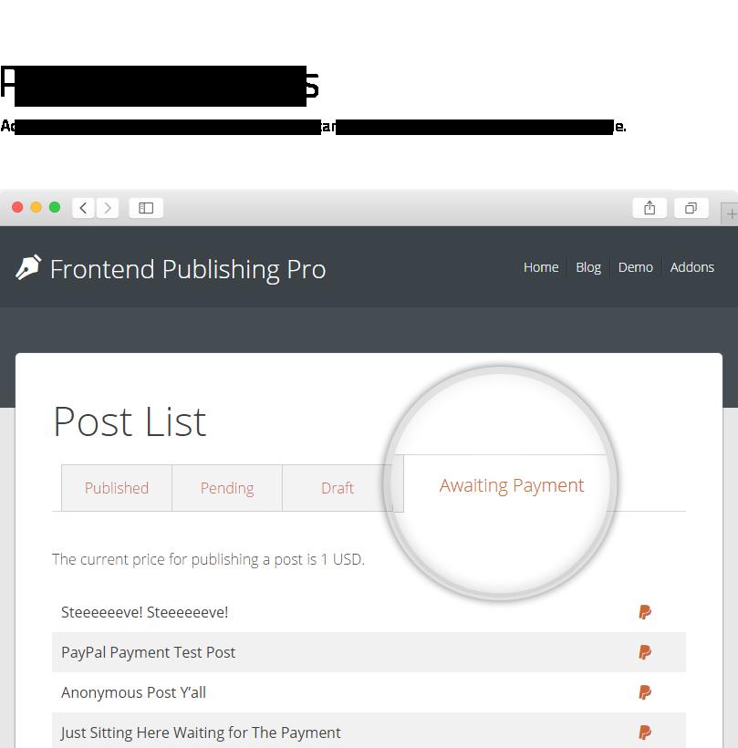 Frontend Publishing Pro - WordPress User Submission Plugin - 4