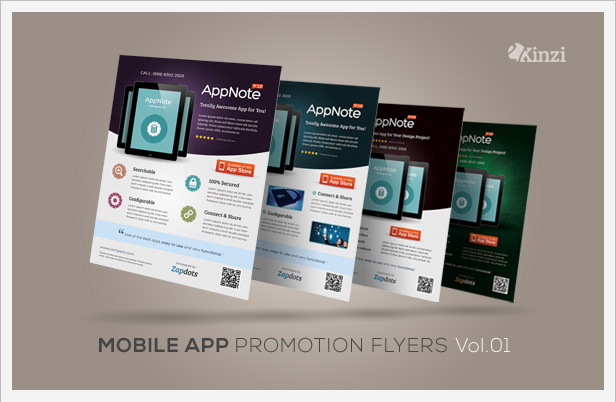 mobile app promotion flyers vol 02 by kinzi21 graphicriver