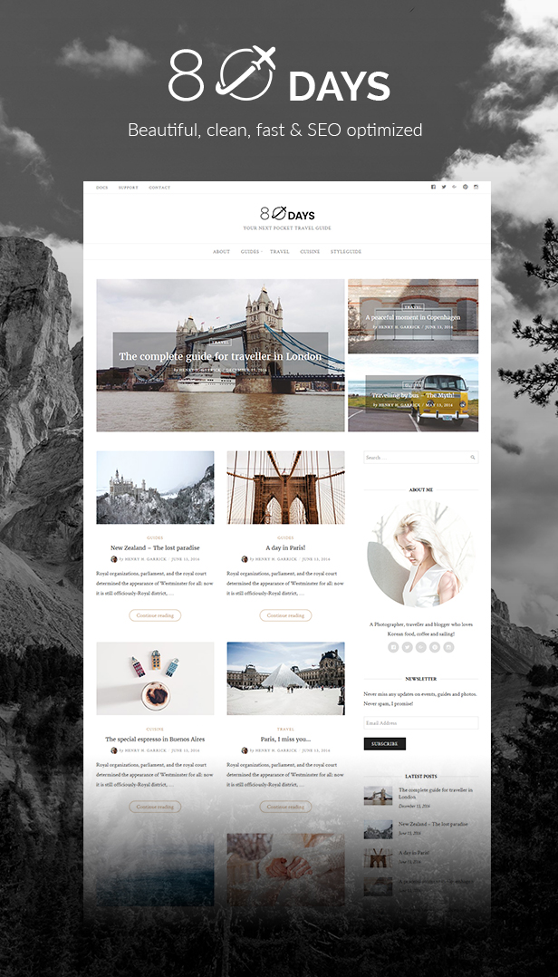 Eightydays A Wordpress Theme For Travel Blogs By Gretathemes Themeforest,Simple Kitchen Pantry Designs Pictures
