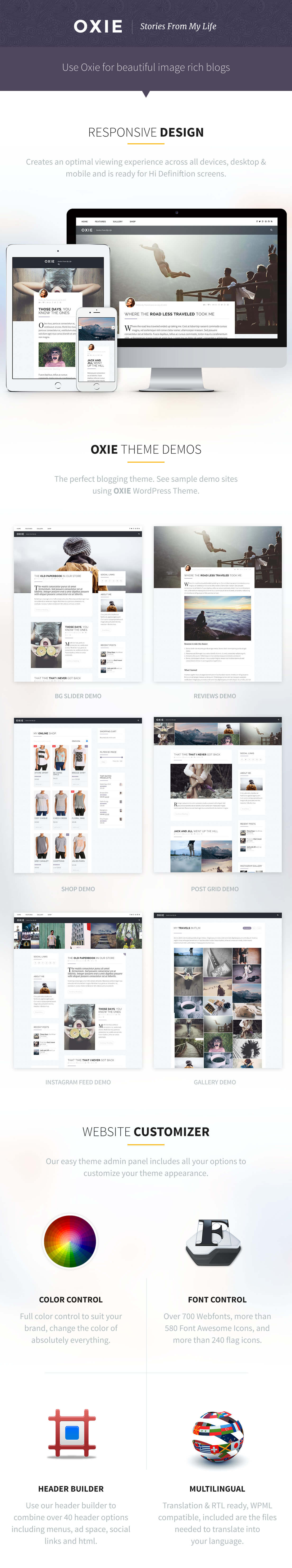 OXIE WordPress Theme