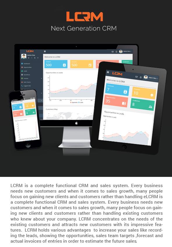 LCRM - Next generation CRM web application - 3