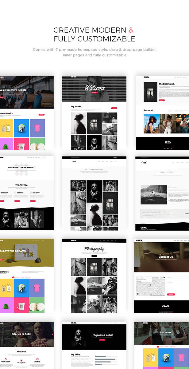 Cimol - Responsive One Page & Multi Page Portfolio Theme - 1