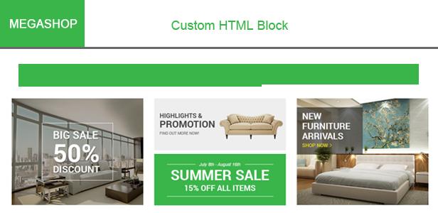 Megashop - Custom HTML Blocks