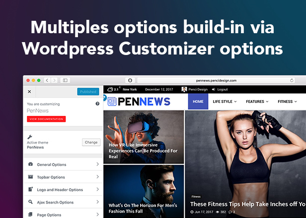 PenNews - News/ Magazine/ Business/ Portfolio/Reviews Landing AMP WordPress Theme - 14