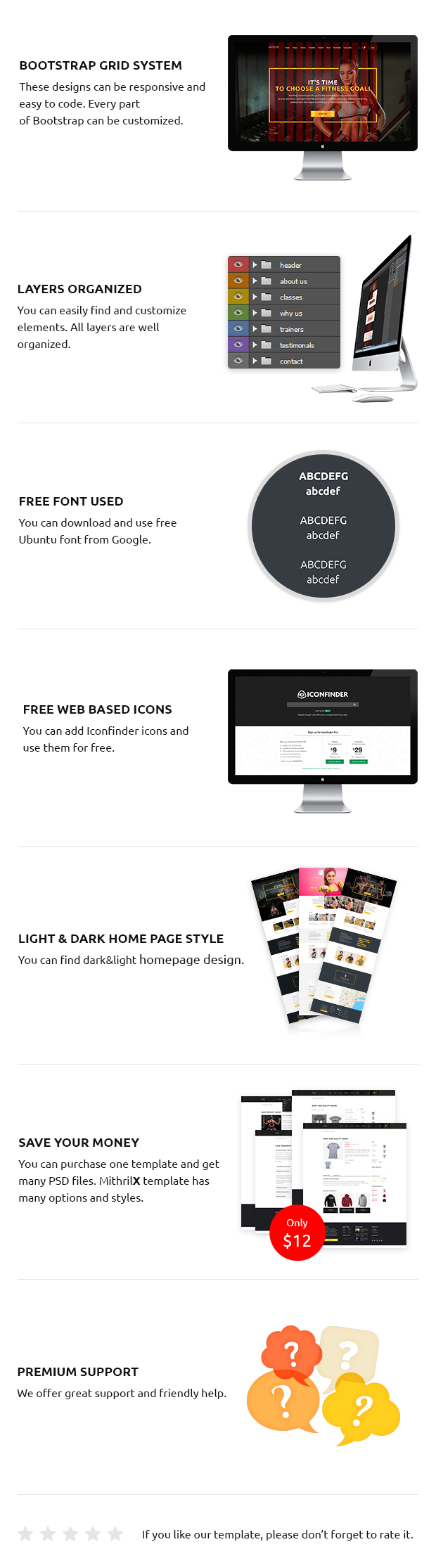 MithrilX – Fitness & Gym PSD Template - 1