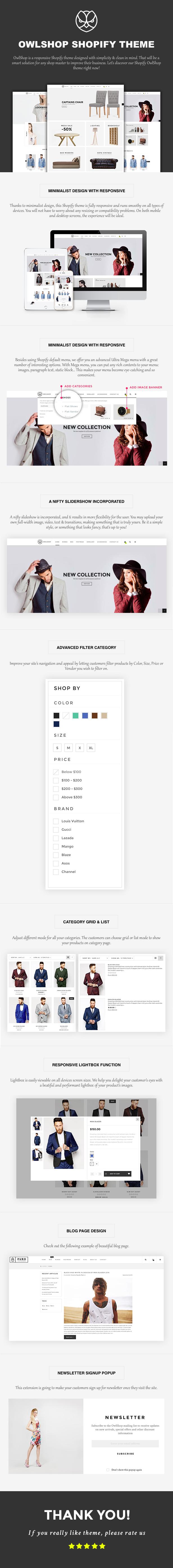 Owlshop - Minimalist Ecommerce Shopify Theme - 1