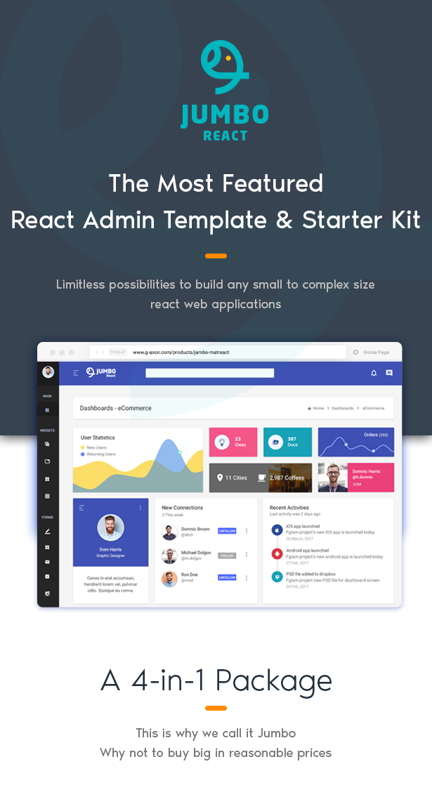 jumbo react react redux material bootstrap admin template by g axon. Black Bedroom Furniture Sets. Home Design Ideas