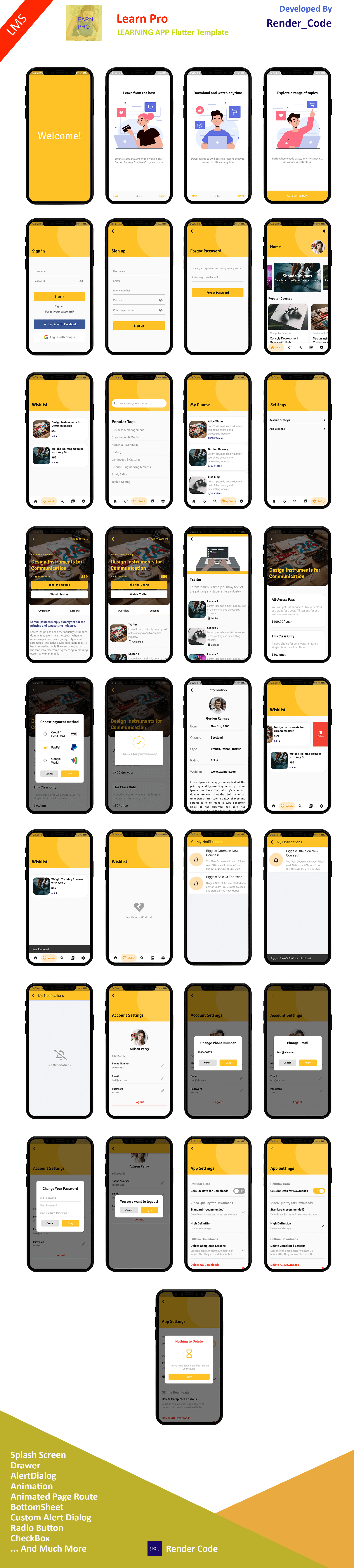 StunningKit - Biggest Flutter App Template Kit (15 App Template) - 11