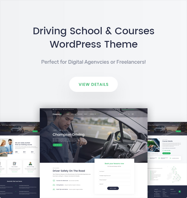 DreeveX  Driving School WordPress Theme - 5