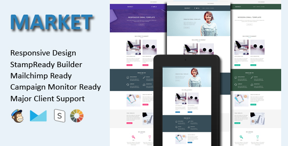 Valentine - Responsive Email Template With Stamp Ready Builder