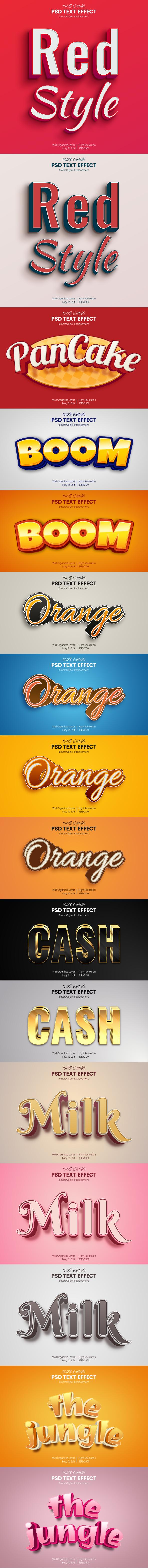 40 Luxury & Cartoon Photoshop Text Effects - Golden & Comic Styles - 1