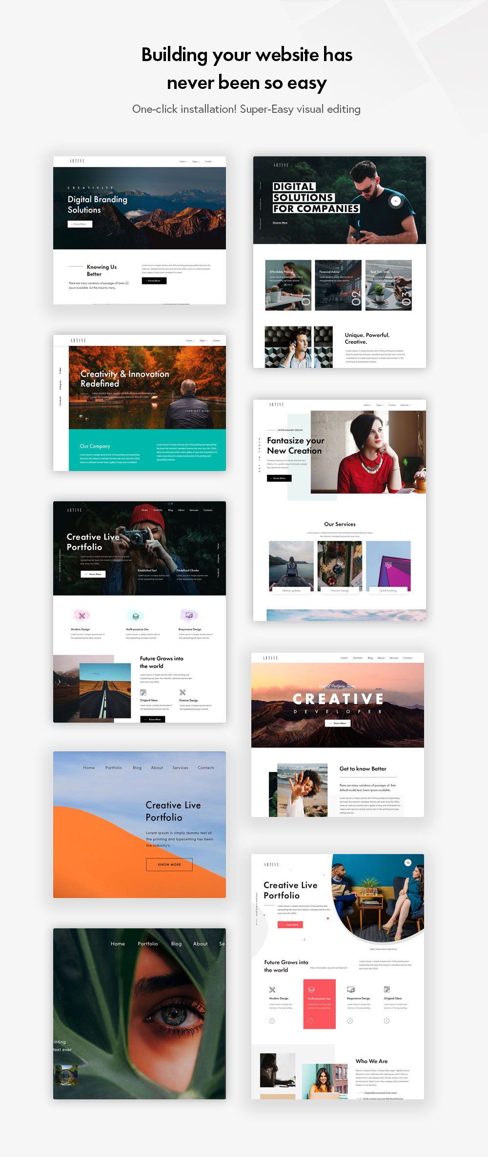 Artive HomePages