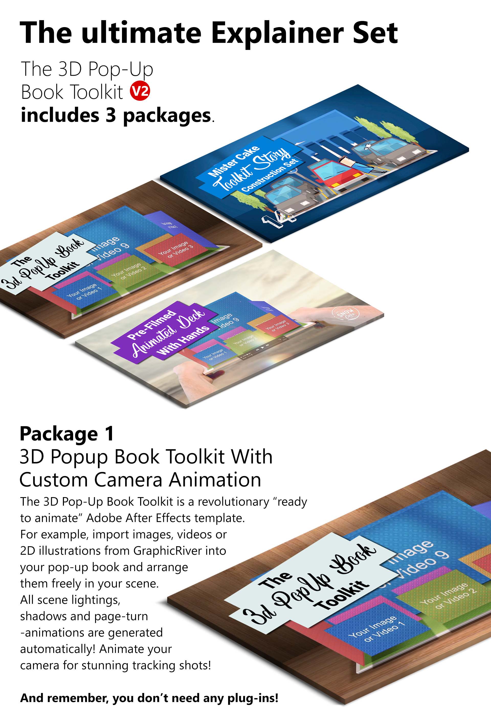 3D Pop-Up Book Explainer Toolkit & Story Pack