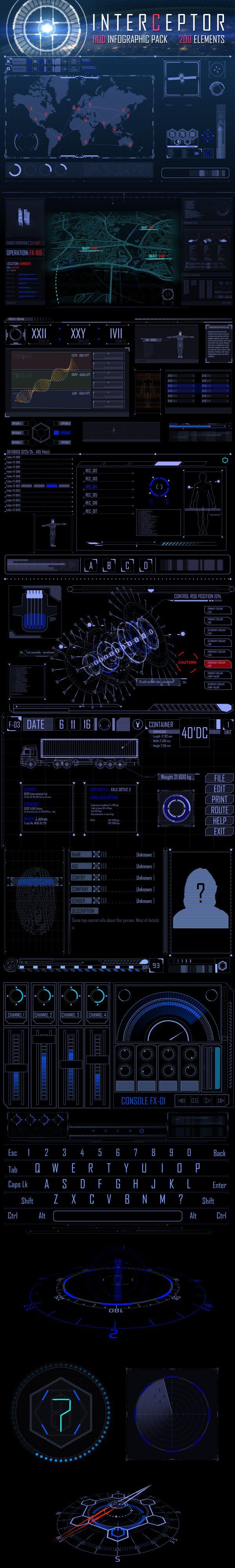 Interceptor Infographic HUD Pack