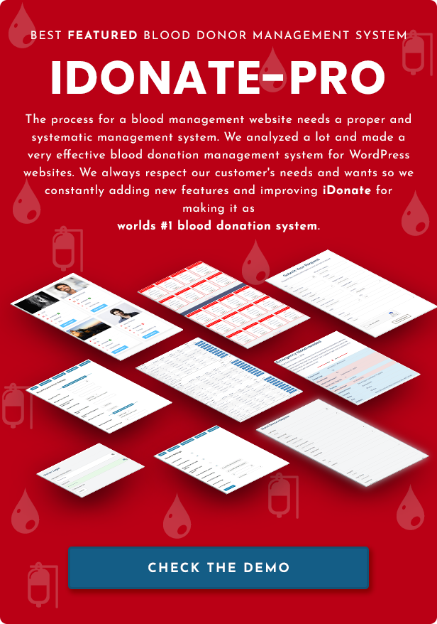 Idonatepro Blood Request And Blood Donor Management System