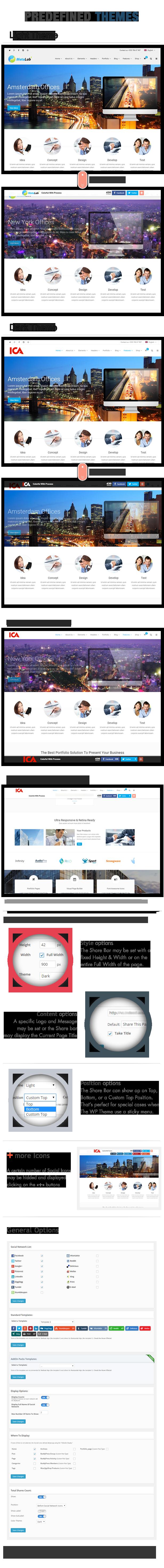 Social Share top Bar AddOn - WordPress - 6