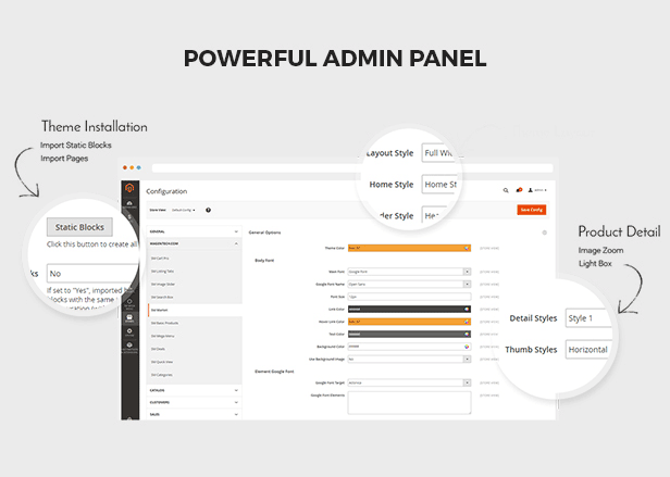 Infinity - admin panel
