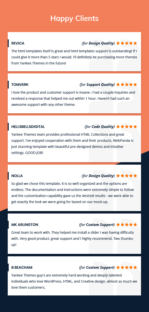 WebPanda happy clients review and comment